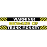 Warning – Beware of Trunk Monkey